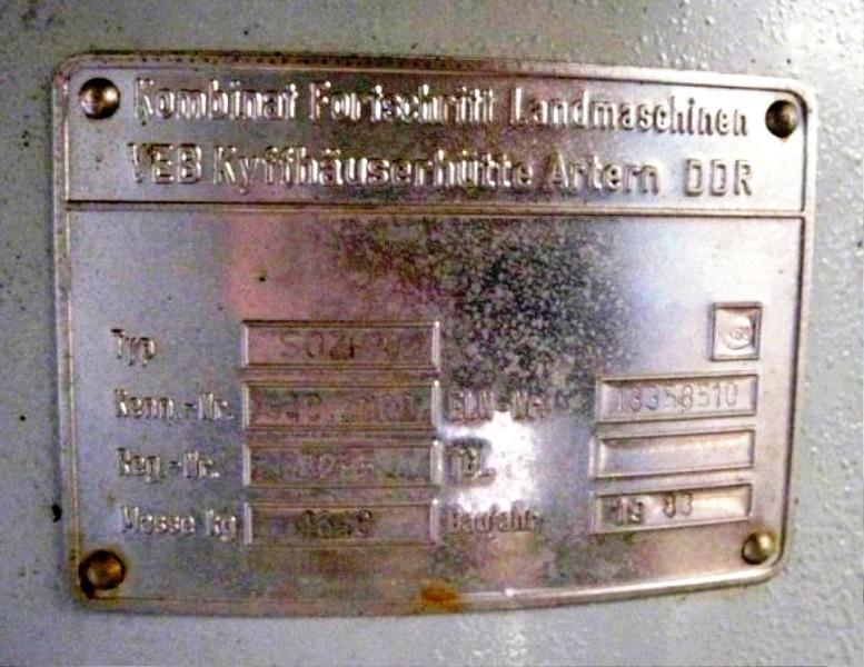 KMA Nagema SOZH/42 self-cleaning beer separator, 316SS.