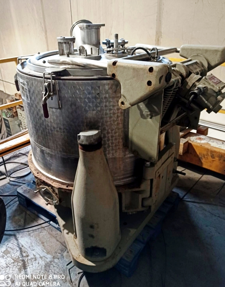 Rousselet SC 85 KSA perforate basket centrifuge, 316SS.