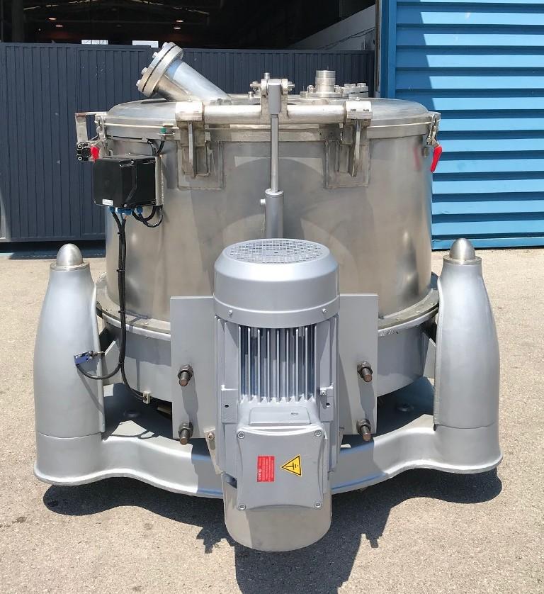 RINA 200F-1200 perforate basket centrifuge, 316SS.