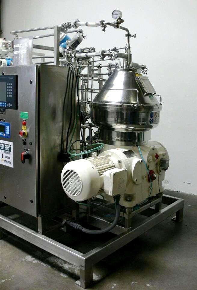 Westfalia CSC 20-01-476 hydro-hermetic separator skid.