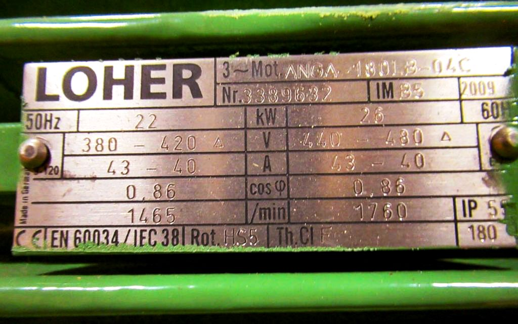 NEW: Westfalia separator 22 KW dual voltage motor.