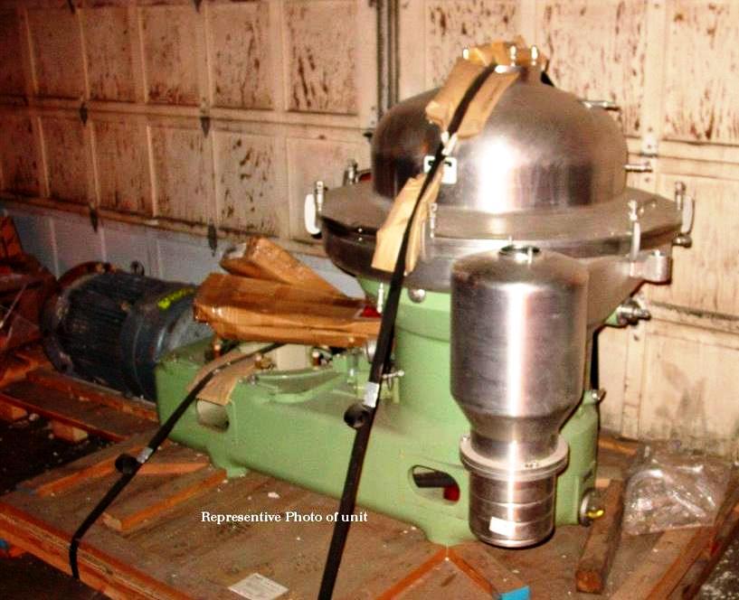 (2) Westfalia SA 80-06-177 clarifier centrifuges, 316SS.