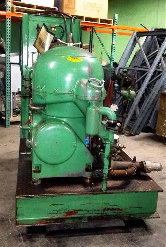 Westfalia OSA 20-02-066 varizone lube oil purifier skid.