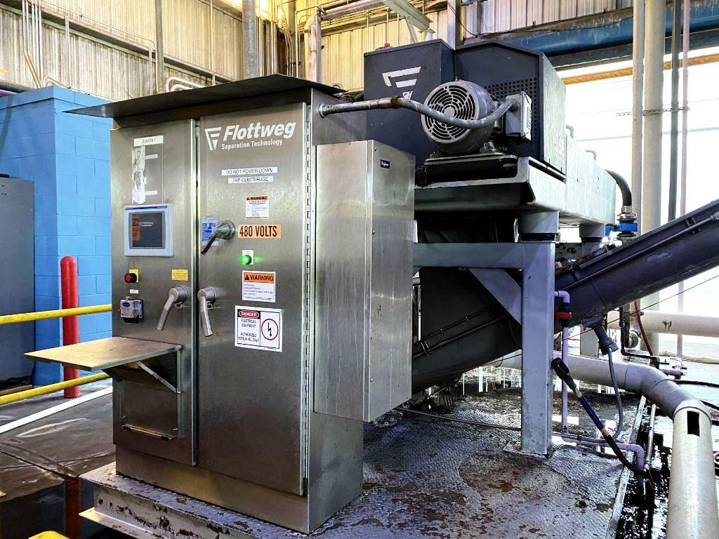 Flottweg C5E-4/454 HTS decanter centrifuge, 316SS.