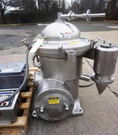 Westfalia SAMR 3036-M sanitary clarifier, 316SS.