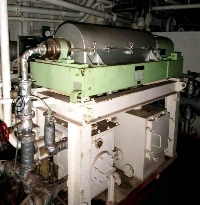 Krauss-Maffei KVZ-25-ML decanter centrifuge, 316SS.