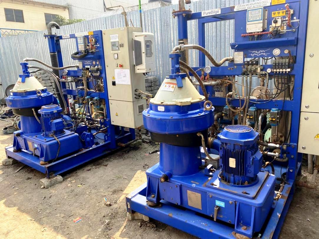 (2) Alfa-Laval BWPX 307 TGD-71 oil concentrator modules, SS.