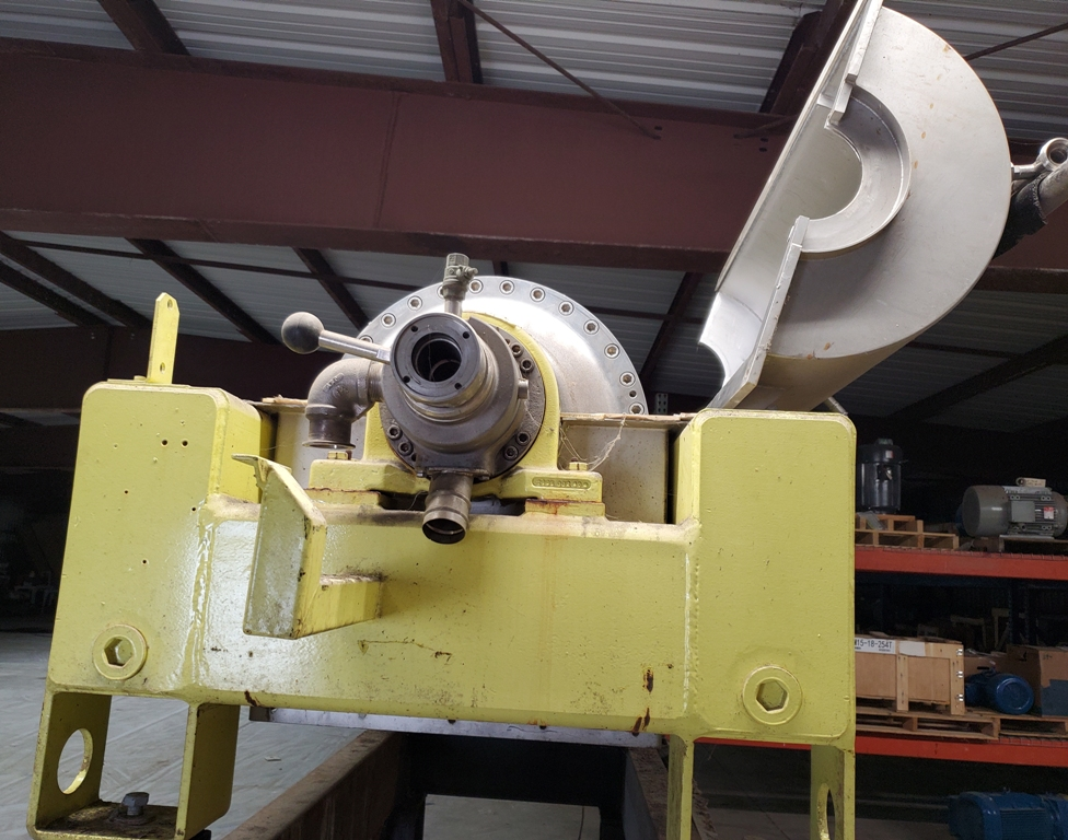 Flottweg S4D-3/408 sedicanter centrifuge, 316SS.