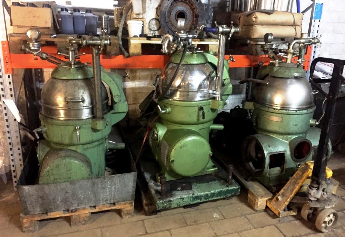 Westfalia KG 8006 chamber bowl centrifuge, 316SS.